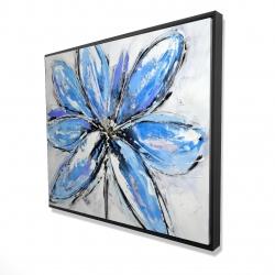 Framed 48 x 60 - 3D - Blue flower