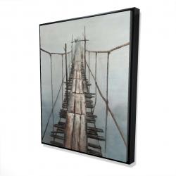Framed 48 x 60 - 3D - Old abandoned bridge