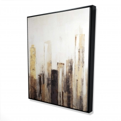 Framed 48 x 60 - 3D - Earthy tones city