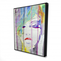 Framed 48 x 60 - 3D - Abstract colorful portrait