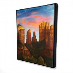 Framed 48 x 60 - 3D - Cathedral rock in arizona