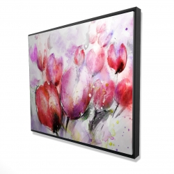 Framed 48 x 60 - 3D - Abstract blurry tulips