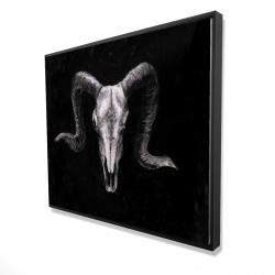 Framed 48 x 60 - 3D - Ram skull grunge style