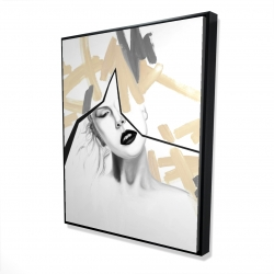 Framed 48 x 60 - 3D - Divided woman