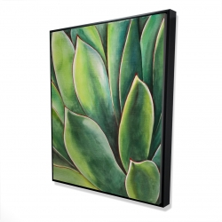 Framed 48 x 60 - 3D - Watercolor agave plant