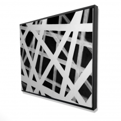 Framed 48 x 60 - 3D - Geometric stripes