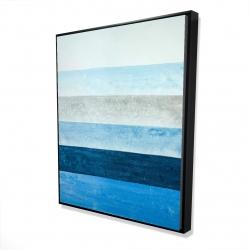 Framed 48 x 60 - 3D - Blue stripes