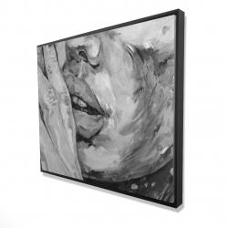 Framed 48 x 60 - 3D - Luscious lips