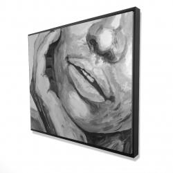 Framed 48 x 60 - 3D - Irresistible lips