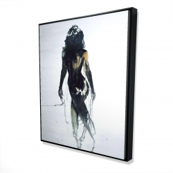 Framed 48 x 60 - 3D - Abstract back view of a woman silhouette