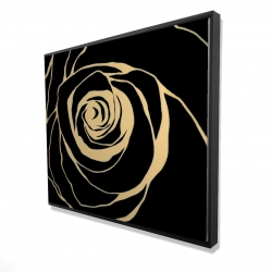 Framed 48 x 60 - 3D - Black rose