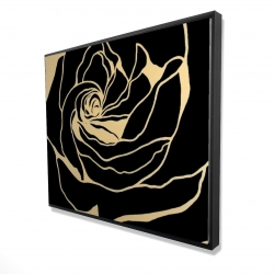 Framed 48 x 60 - 3D - Cutout black rose