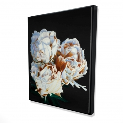 Framed 48 x 60 - 3D - Blooming peonies