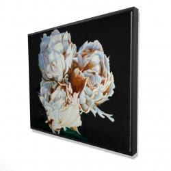 Framed 48 x 60 - 3D - Blooming peonies
