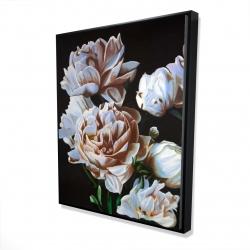 Framed 48 x 60 - 3D - Peonies