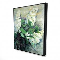 Framed 48 x 60 - 3D - White lilacs