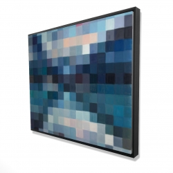 Framed 48 x 60 - 3D - Pixelated mountainous landscape