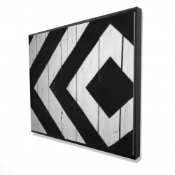 Framed 48 x 60 - 3D - Rhombus on wood