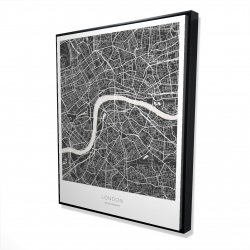 Framed 48 x 60 - 3D - Graphic map of london