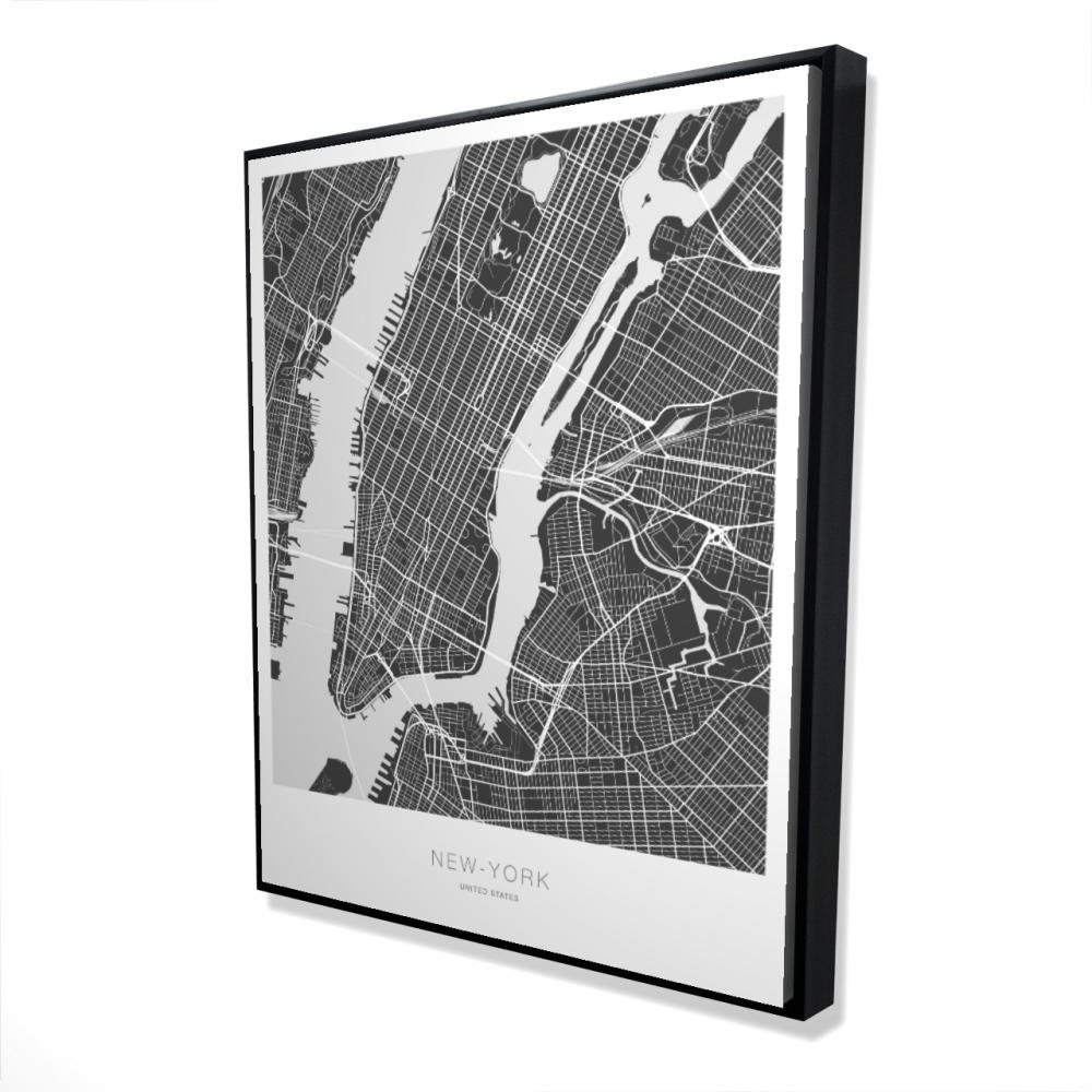 New york graphic map