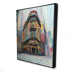 Framed 48 x 60 - 3D - Building architecture in new-york