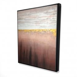Framed 48 x 60 - 3D - Golden pink