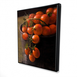 Framed 48 x 60 - 3D - Bucket of cherry tomatoes