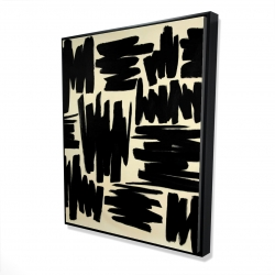 Framed 48 x 60 - 3D - Deconstructed stripes
