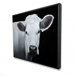 Framed 48 x 60 - 3D - White cow