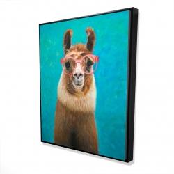 Framed 48 x 60 - 3D - Lovable llama