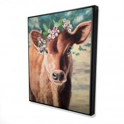 Framed 48 x 60 - 3D - Cute jersey cow