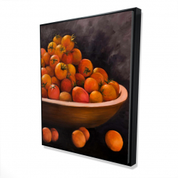 Framed 48 x 60 - 3D - Bowl of cherry tomatoes