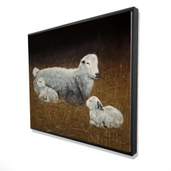 Framed 48 x 60 - 3D - Sheep and lambs