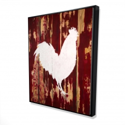 Framed 48 x 60 - 3D - Rooster silhouette