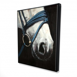 Framed 48 x 60 - 3D - Horse with harness