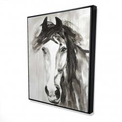 Framed 48 x 60 - 3D - Beautiful wild horse
