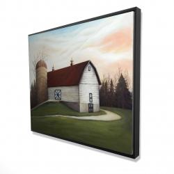 Framed 48 x 60 - 3D - White barn