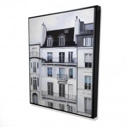 Framed 48 x 60 - 3D - Buildings along the seine river