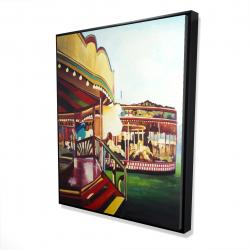 Framed 48 x 60 - 3D - Carousel in a carnaval