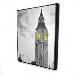 Framed 48 x 60 - 3D - Outline of big ben in london