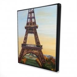 Framed 48 x 60 - 3D - Eiffel tower by dawn