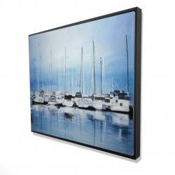 Framed 48 x 60 - 3D - Boats at the dock