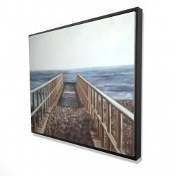 Framed 48 x 60 - 3D - Relaxing beach