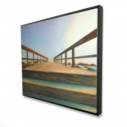 Framed 48 x 60 - 3D - Footbridge