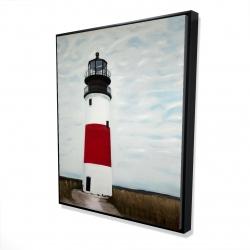 Framed 48 x 60 - 3D - Sankaty head lighthouse