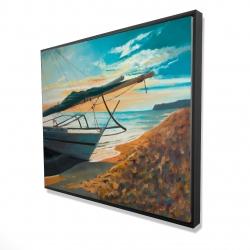 Framed 48 x 60 - 3D - Peaceful seaside