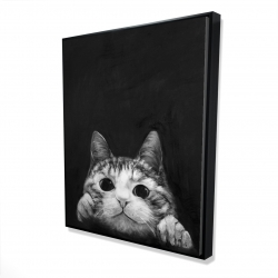 Framed 48 x 60 - 3D - Curious cat
