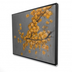 Framed 48 x 60 - 3D - Golden wattle plant with pugg ball flowers