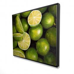 Framed 48 x 60 - 3D - Basket of limes