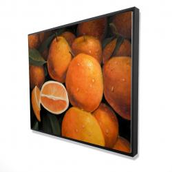 Framed 48 x 60 - 3D - Fresh oranges